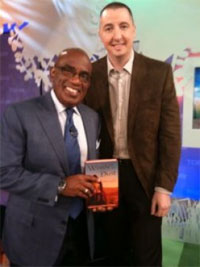 Trent Reedy and Al Roker on the set of the Today Show.